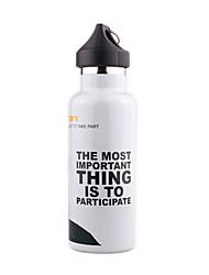 500ML Sports Vacuum Bottle/Vacuum Flask (White/Gray)