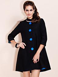 TS Vintage Style A Line Woolen Coat