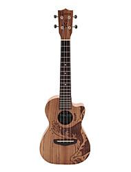 Rainie - (TCO-02) ad alta grande solido acacia ukulele tenore koa con gig bag / sintonizzatore (oceano tatoo)