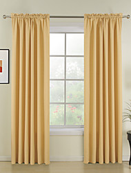 New Style Yellow Solid Polyester Curtains Drapes