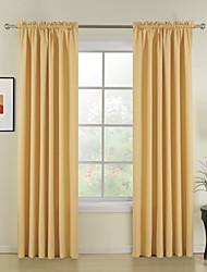 novo estilo amarelas contínuas cortinas de poliéster cortinas