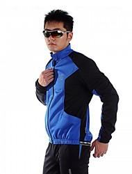 lambda-hommes 100% polyester à long jacker vélo manchon (bleu)