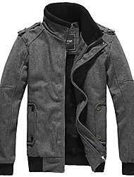 epaulet casaco de caxemira estande