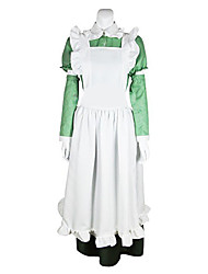 Inspired by Hetalia Italy Feliciano Vargas Anime Cosplay Costumes Cosplay Suits Solid White Long Sleeve Dress For