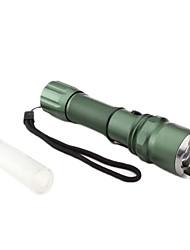 tático 3-mode cree xr-e q5 levou lanterna com orifício de carregamento (230lm, 1x18650, verde)