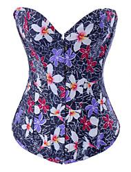 algodão com corsets fechamento impressão strapless frente busk shapewear sexy lingerie shaper