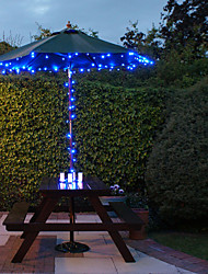 Solar 60-LED Blue Light Outdoor-Lichterkette Weihnachtsdekoration Lampen