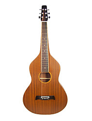 Aiersi - (05HBTR) Solid Mahogany Top Rope Binding Weissenborn Guitar/Acoustic Hawaiian Slide Guitar with Gig Bag(Satin)