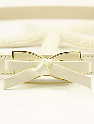 Small Bowknot Buckle Skinny Belt(109*2.1CM)