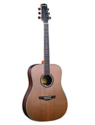 "Hawks 41"" Advanced Solid Red Cedar Top Wood Rosette Maple Binding D'Addario String Acoustic guitar"