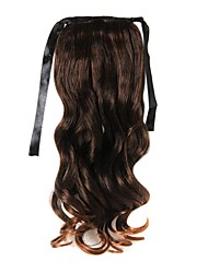 20 inch 1 Piece Chestnut Brown Ponytails Hair Extensions
