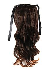 20 pouces 1 pièce marron queues de cheval extensions de cheveux
