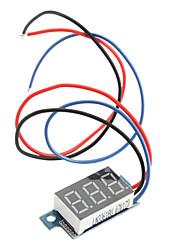 0 a 99.9V Carro Elétrico Motorizado Display Board Tensão (Preto)