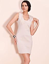 TS Diamond Shape Neckline Sheath Dress