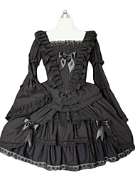 Flared Sleeve Knee-length V-shaped Lace Gothic Lolita Dress