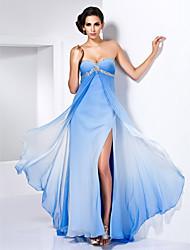 Mantel / Spalte Liebsten bodenlangen Chiffon-Kleid mit Split vor