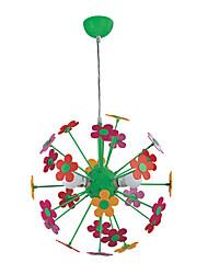 Luz encantadora flor colgante con 3 luces