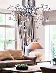 Хрустальная люстра в современном стиле, 9 ламп