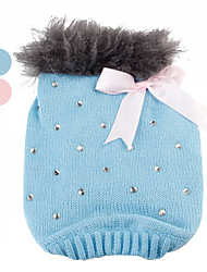 Diamond Spotted Sweater with Plush Collar for Dogs (XS-XL, Assorted Colors)
