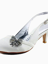 Satin Stiletto Heel Slingbacks With Bowknot Wedding/Party Shoes