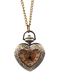 Elegant Alloy Heart Design Necklace Watch