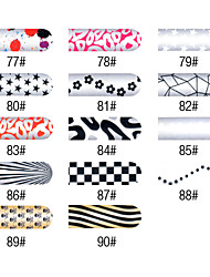16 PCS enteras de color de uñas Pegatinas Nail Art