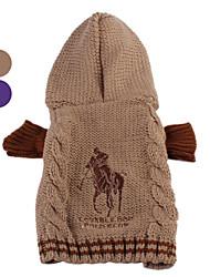 Dog Sweater Brown / Purple Winter Classic