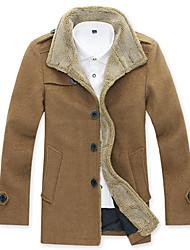 invierno ropa de abrigo de tweed masculino
