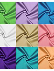 Tissu 100% polyester satin par le chantier (plusieurs couleurs)