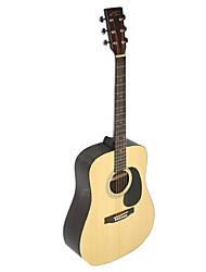 "recordingking - (RD-37) 41"" Solid Citka Spruce Dreadnought Acoustic Guitar with Bag/Strap/Picks/Wrench"