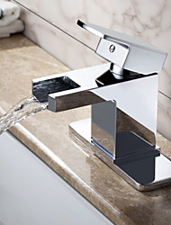 Sprinkle® - par LightInTheBox - contemporain cascade en laiton massif lavabo robinet (finition chromée)