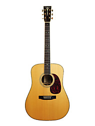 "Recording King - (RD-227) 41"" Solid Citka Spruce Dreadnought Acoustic Guitar with Gig Bag/Strap/Picks/Tuner"