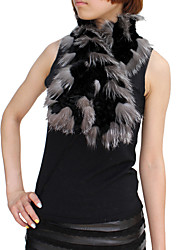 Scarves Feather/Fur Black / White Party/Evening