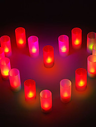 12 - LED Candle Light Singe Color Candle Wedding or Party Gifts