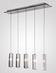 Max 10W Pendant Light ,  Modern/Contemporary / Island Chrome Feature for Crystal Metal Dining Room