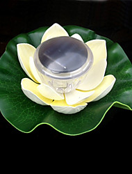 Cor que muda Flutuante Solar Lotus Flower Garden Piscina Nightlight