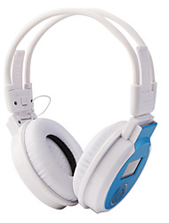 mp3 fm fone de ouvido com slot para cartão SD, tela LCD (azul, cinza)