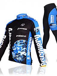 inbike largo-manga de los hombres en bicicleta con traje 3d almohadilla