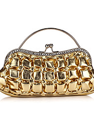 Trendy Faux Leather Clutches With Ruffles(More Colors)