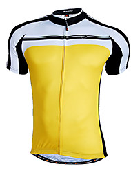Nuckily Cycling Jersey Men's Short Sleeve Bike Breathable Quick Dry Front Zipper Wearable Jersey Tops 100% Polyester PatchworkSpring