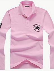 Men's Long Sleeve Polo Casual Pure
