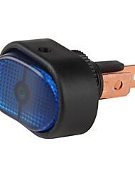 Interrupteur à bascule voiture avec LED bleue indicateur (12V)