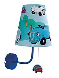 40W Contemporânea tecido leve da parede Crianças com uma luz em Design de desenhos animados