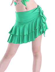 Dancewear Viscose Latin Dance Tiers Skirt for Ladies More Colors