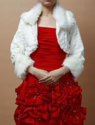 Nizza Faux Fur Long Sleeves Wedding / Evening Jacken / Wraps