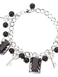 Z&X®  Rectangle Coloured Glaze with Glass Bead Bracelet
