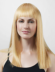 Capless Long High Quality Synthetic Light Blonde Straight Hair Wigs