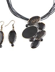 Капли металла нефть капельного Серьга Nacklace костюм
