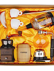 Coffee Series Boxed Gift (Seal & Siphon Pot, Grinder, Cups)T001A