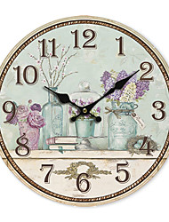 Land Floral Wall Clock